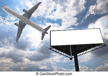panneau affichage, avion