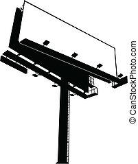 panneau affichage, (clear), signe