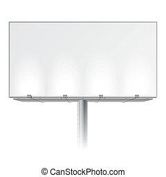 panneau affichage, publicité, vide