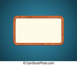 panneau affichage, rectangle, route