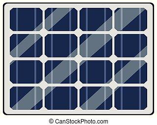 panneau, batterie, solaire