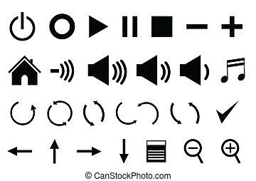 panneau commande, icônes
