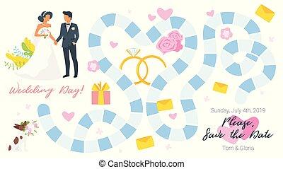 panneau jeu, gabarit, mariage