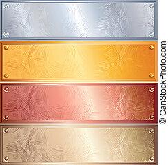panneaux, métallique