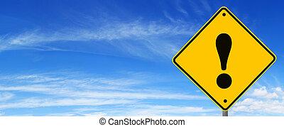 panneaux signalisations, avertissement