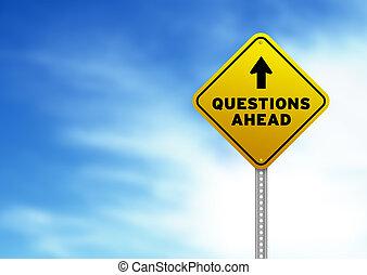 panneaux signalisations, devant, questions