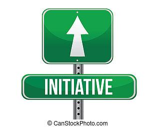 panneaux signalisations, illustration, initiative