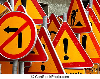 !, panneaux signalisations