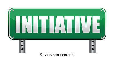 panneaux signalisations, initiative, isolé