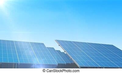 """panneaux solaires, """", autour de, """"rows, tourner"""