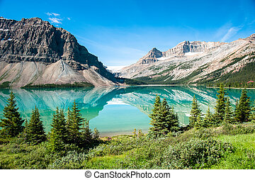 panorama, lac, arc