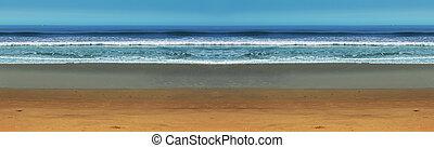 panorama, mer