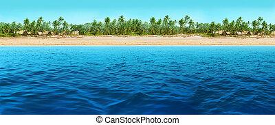 panorama, plage