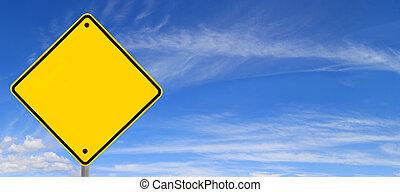 panorama, sur, ciel, panneaux signalisations