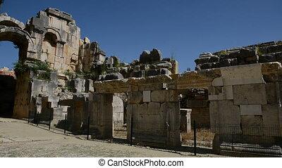 panoramique, ancien, amphithéâtre