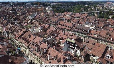panoramique, berne, suisse, vue