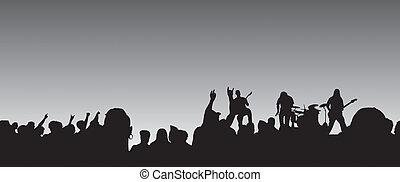 panoramique, concert