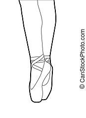 pantoufles ballet