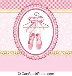 pantoufles, fond, ballet