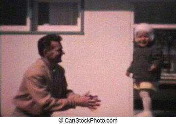 papa, garçon, peu, sien, (1963), sauts