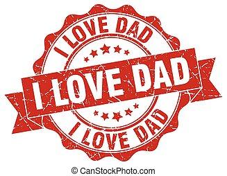 papa, signe., cachet, amour, stamp.