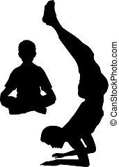 papa, yoga