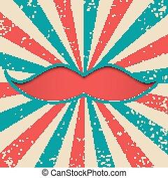 papercut, moustache, fond, vendange