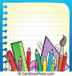papeterie, 2, bloc-notes, page, vide
