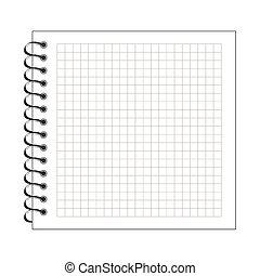papier, bloc-notes, spirale, illustration, vide