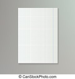 papier, carré, sheet., blanc