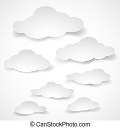 papier, clouds.