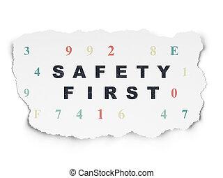 papier, concept:, fond, sécurité, protection, premier, déchiré