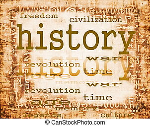 papier, concept, vieux, histoire