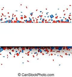 papier, confetti, banner., célébration