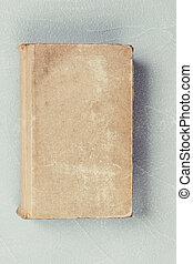 papier, couverture, fermé, vieux, mesquin, livre, feuilles, vide, vendange