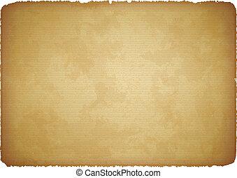 papier déchiré, vieilli, bords