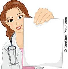 papier, docteur