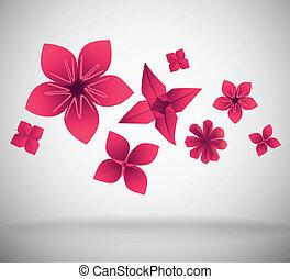 papier, fleurs