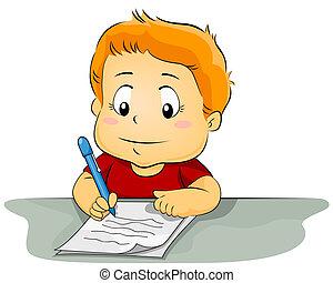 papier, gosse, écriture