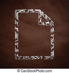 papier, icône