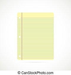 papier, illustration, cahier