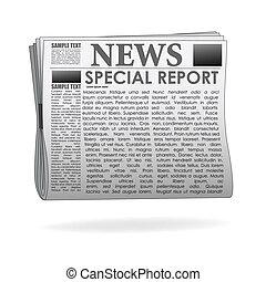 papier nouvelles, rapport, spécial
