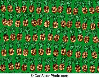 papier peint, ananas