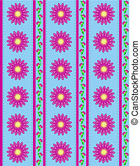 papier peint, fleurs roses, bleu, jpg.