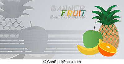 papier peint, fruit