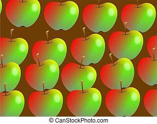 papier peint, pomme