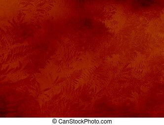 papier peint, texture, filigrane, fond, fougères, ou, rouges
