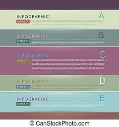 papier, résumé, infographic, éléments, 3d