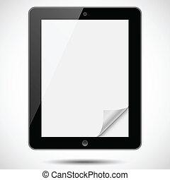 papier, tablette, coin