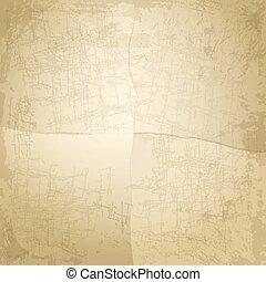 papier, vendange, vieux, fond